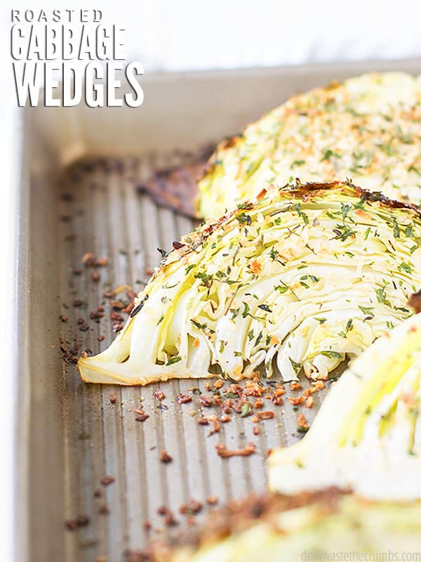 These simple roasted cabbage wedges are so easy to make in just 3 simple steps, and versatile in the way they can be seasoned.