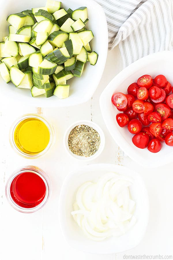 This Greek salad uses real food ingredients that are simple and delicious, like my homemade Greek salad dressing.