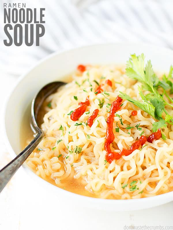 Easy homemade ramen soup that is perfect for a quick meal or snack! Ready in just about 10 minutes.