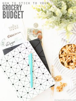 These helpful tips and insights, like tracking your spending and meal planning, will help you learn how to stick to your grocery budget - month after month! :: DontWasteTheCrumbs.com