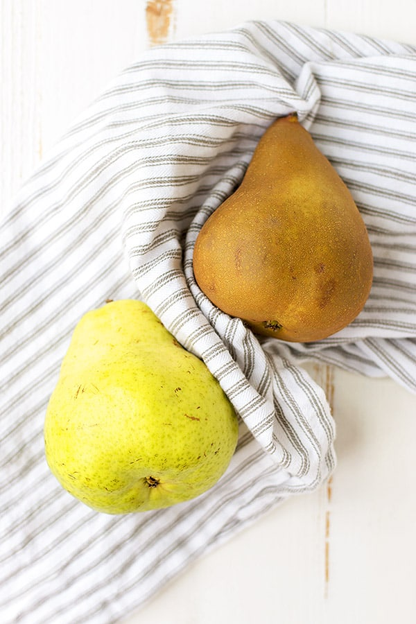 Pears are still in season in December, so you still get to enjoy their nutritional benefits, plus great fiber, into the winter months. Ripe pears are mild, sweet & juicy and can be used in a variety of ways!