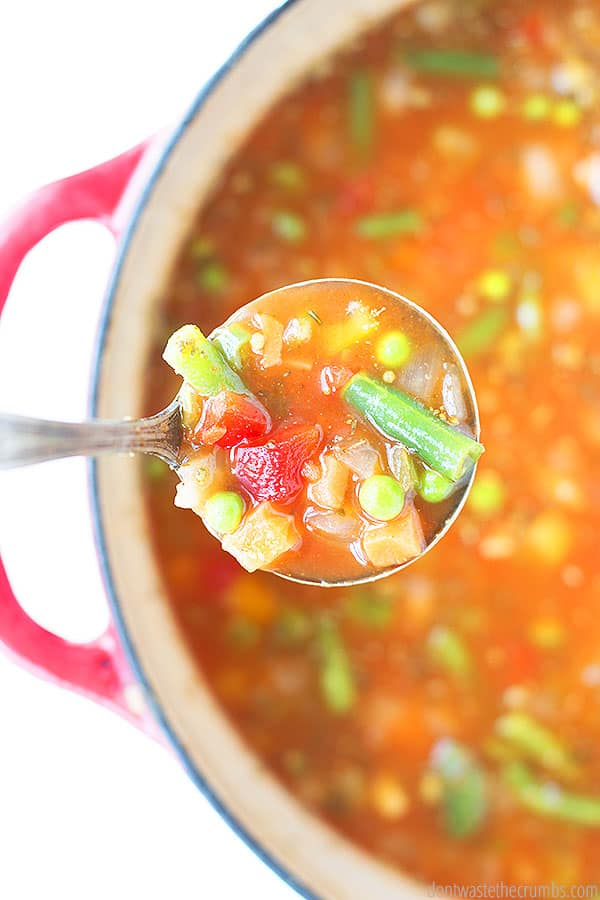 Not only can you make this minestrone soup on the stove top, but it is easily made in the instant pot and even the slow cooker as well!