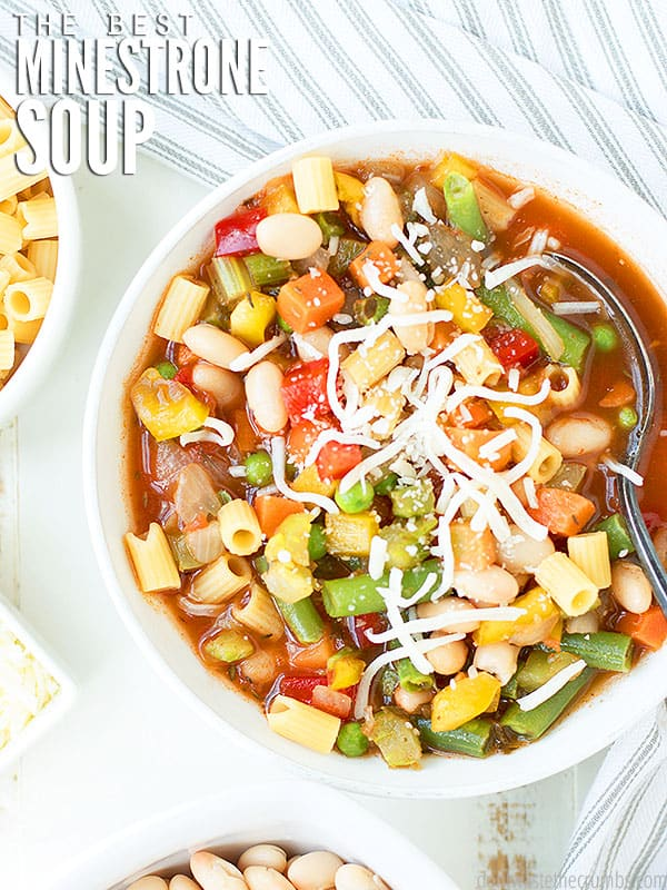 This minestrone soup is the best of both worlds. Classic minestrone with a twist - spaghetti sauce and curry are added for an extra kick!