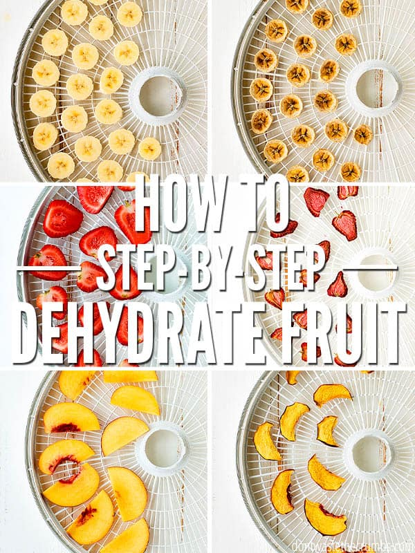 Learning how to dehydrate fruit is very easy with these simple steps. Dried fruits make for perfect healthy snacks or use them in your favorite recipes like our homemade granola bars! :: DontWastetheCrumbs.com