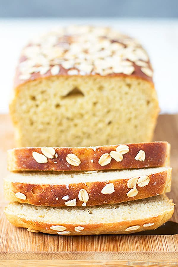 This maple oatmeal bread slices very nicely and is perfect for making sandwiches.