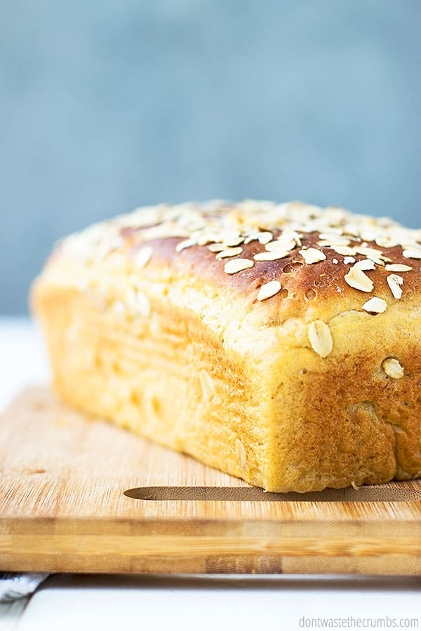 A soft yet dense loaf of maple oatmeal bread. Lightly sweet using only natural real food ingredients.
