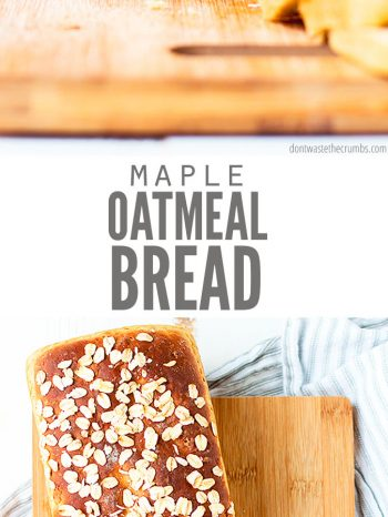 This Maple Oatmeal Bread is the best soft & sweet oat bread recipe. So versatile, you can even use leftover oatmeal! Perfect for sandwiches and serves perfectly for dinner with my Classic Slow Cooker Pot Roast!