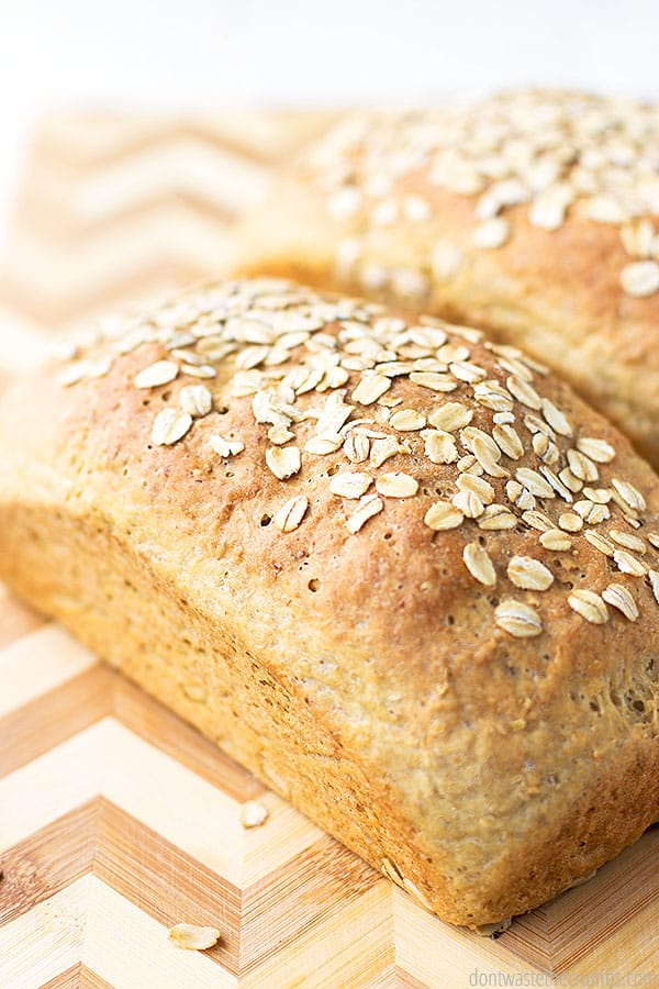 There's nothing quite like eating warm, delicious homemade bread. This oat bread is great for serving to guests or kiddos.