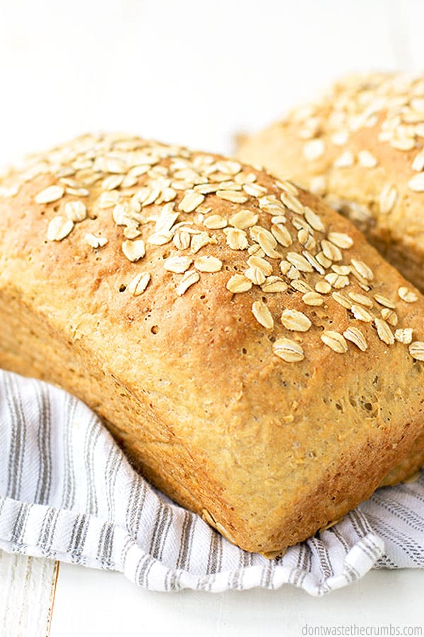 This oatmeal bread has healthy oats and healthy einkorn flour! It is also perfect for the beginner baker.