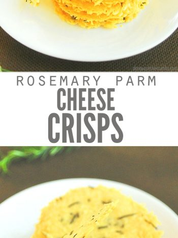 This Parmesan Crisps recipe is quick & easy to make, light & crunchy, and so full of flavor - a perfect side, snack, or last minute appetizer! Enjoy as a topping for a bowl of Easy Minestrone Soup or a Kale Caesar Salad.
