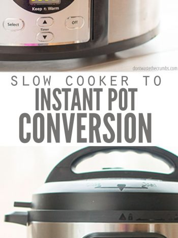 So you bought an Instant Pot. Do you ditch all of your favorite, passed down, slow cooker recipes. Oh...No...no! Learn how to make slow cooker recipes in a Instant Pot with these conversion tips. Most recipes convert easily and I've included cooking times too! Also included are the challenges to lookout for. #instantpot #recipe #slowcooker #conversion #tips #hacks #cookingtips