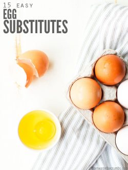 Here are the 15 Best Egg Substitutes for Baking & Cooking. Replace eggs in pancakes, cornbread, brownies, cake, cookies & more! Perfect vegan egg substitutes, plus recipe recommendations and tips! :: DontWastetheCrumbs.com