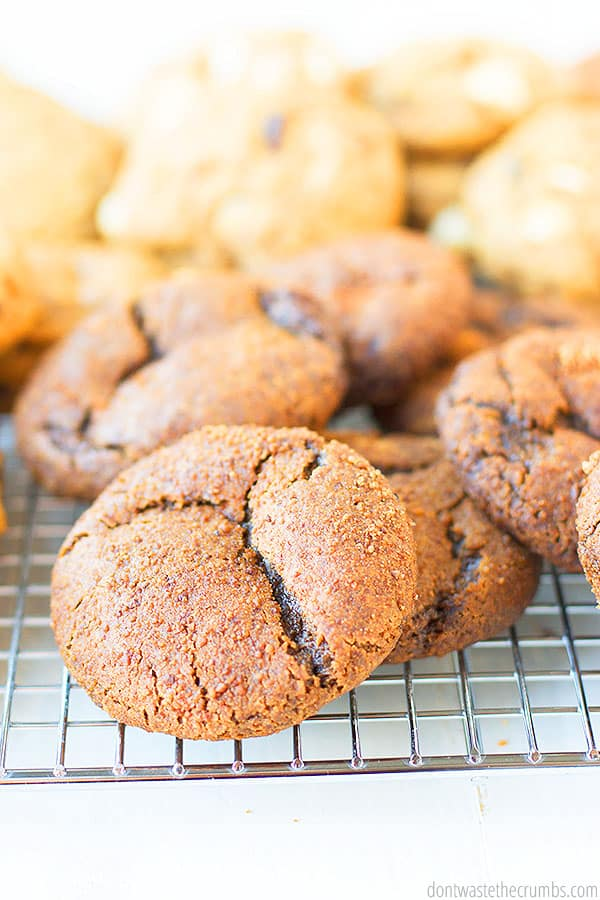 Once baked these chewy gingersnaps are golden brown, bursting with flavor, and they have a crunchy outer layer.