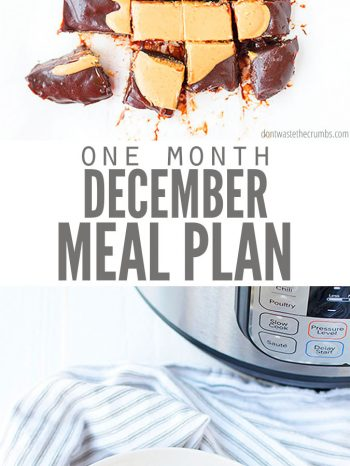 Here's your Healthy Winter Meal Plan for December! Feed your family real food on a budget AND eat seasonal produce with this complete four week meal plan.