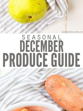 Explore the Winter Produce in Season for December with the best fresh fruits & vegetables to help you prepare wholesome meals for the whole family! Enjoy our December Winter Meal Plan for recipe inspirations.