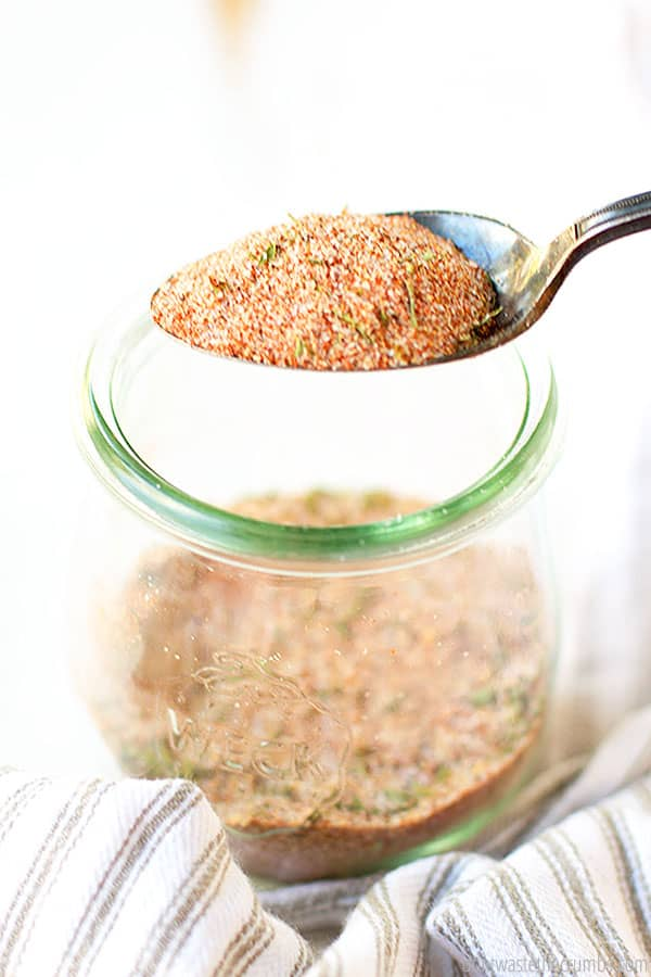This homemade seasoning salt is perfect for all of your favorite recipes like northern bean and ham soup, to roasted potatoes and veggies!
