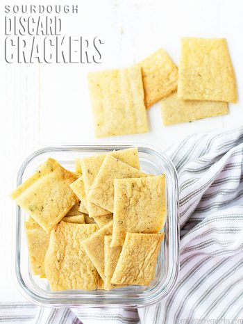 This simple recipe for Sourdough Crackers is the easiest ever - using either starter or discard. It's versatile, healthy and delicious!