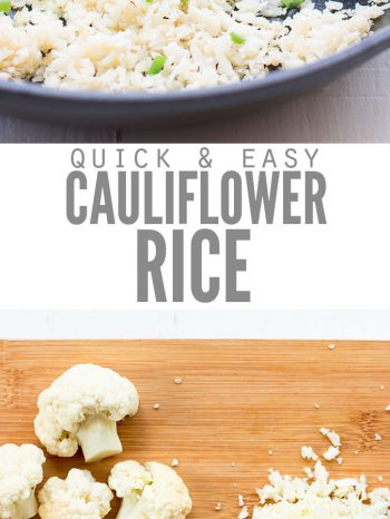 Learn How to Make Cauliflower Rice with OR without a food processor. Plus the best way to make your cauliflower rice crispy. Quick & easy, paleo, keto and Whole30 approved.