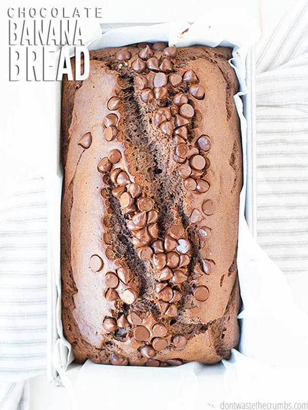 This healthy Chocolate Banana Bread is made with whole grains and natural sweetener. A freezer-friendly, one-bowl recipe, can be double or triple batched!