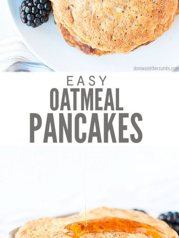 These healthy and yummy oatmeal pancakes are easy to make. They are sure to became a morning favorite!