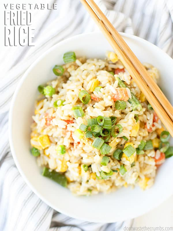 Easy Vegetable Fried Rice Don T Waste The Crumbs