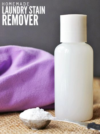 Remove tough stains with this easy homemade stain remover using just 3 ingredients from your cabinets. Costs 89% LESS than store-bought stain remover and it works great!