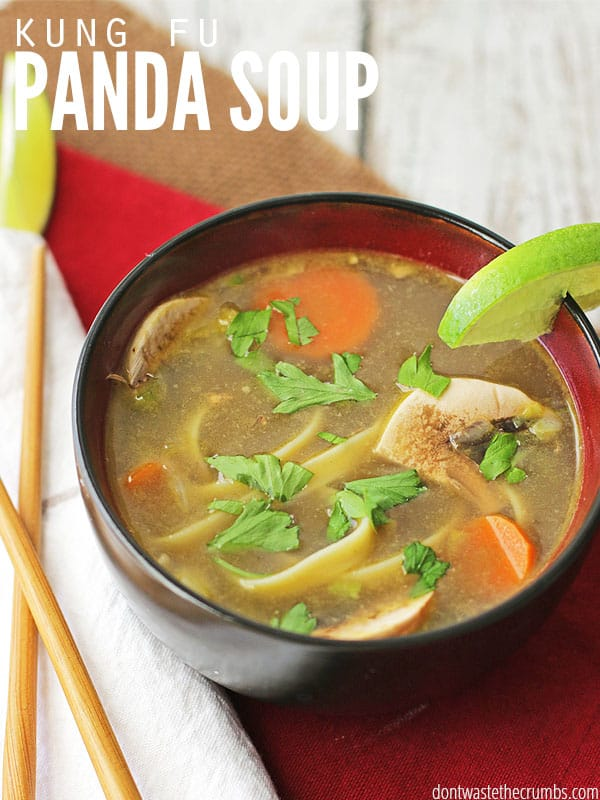 My kids love Chinese Noodle Soup (AKA: Kung Fu Panda Soup) & I love that it's ready in less than 30 minutes! A perfectly healthy & frugal weeknight meal with authentic Asian flavors. Serve with my Instant Pot Beef and Broccoli.
