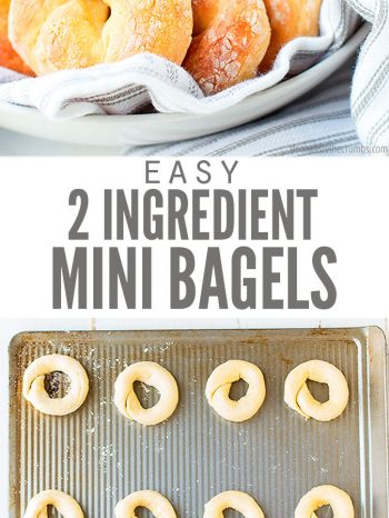 These Mini Bagels are so soft and delicious! A quick & easy baked mini bagels recipe - ready in under 30 minutes! Plus, they're freezer-friendly, affordable, and entirely customizable. For mini blueberry bagels, just add dehydrated blueberries!