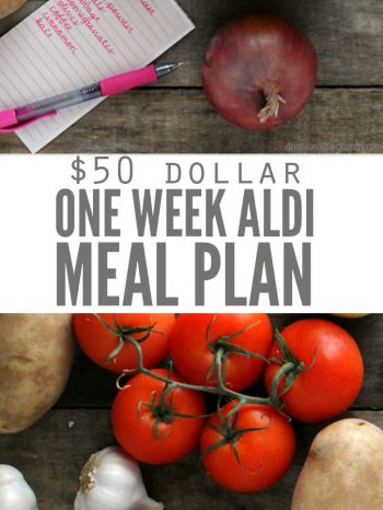 Hello Aldi shoppers! This one week $50 meal plan has quick recipes that include tomatoes, onions, potatoes, peppers and eggs, etc. It's 100% real food such as buffalo chicken potatoes and best burgers ever!