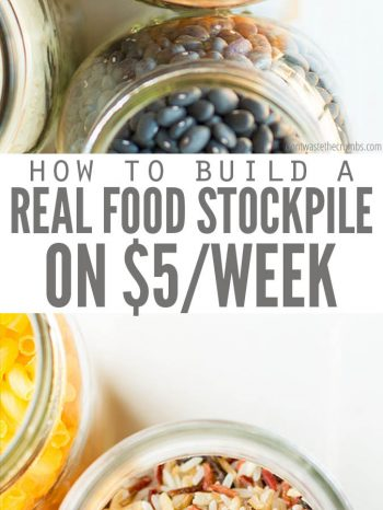 Learn How to Create a Real food Stockpile with $5 a Week. It's budget friendly and super easy to create! Use for meal planning, or in times of food shortages. Try this yummy Instant Pot yellow rice, made with pantry items!