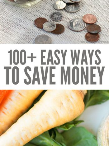 Here are the 100+ best ways to save money. Simple, practical ideas to trim food & household, and other various expenses to save money in small easy steps!