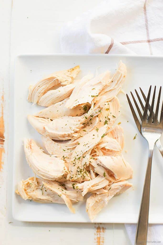 This shredded instant pot whole chicken is ready to serve!