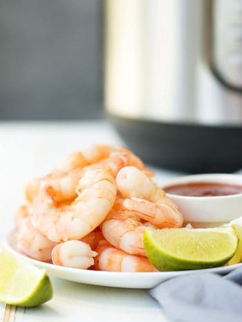 Learn how to cook shrimp perfectly every time, from raw or frozen, using the Instant Pot! Faster than an oven & you can cook with the shell for a shrimp cocktail or make shrimp creole!